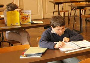 Young student learning at Institut Monte Rosa